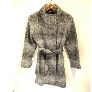 Andrew Marc size 8 gray tweed wool blend pea coat